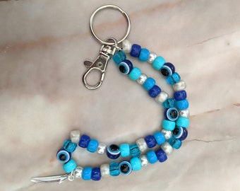 Keychain or Bag Charm Resin and Alcohol Ink Housewarming B Grade Blue E Initial Keyring New House Birthday Postable Letterbox Gift