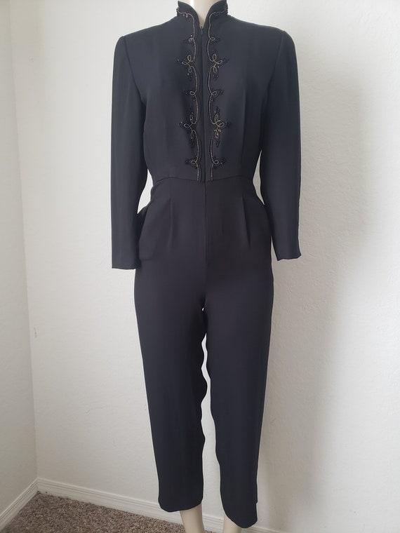 Vintage 90's Liz Claiborne black jumpsuit petite s