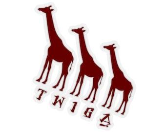 Twiga Trio Kiss-Cut Stickers
