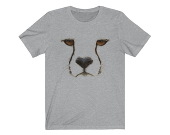 Cheetah Face Unisex Tee