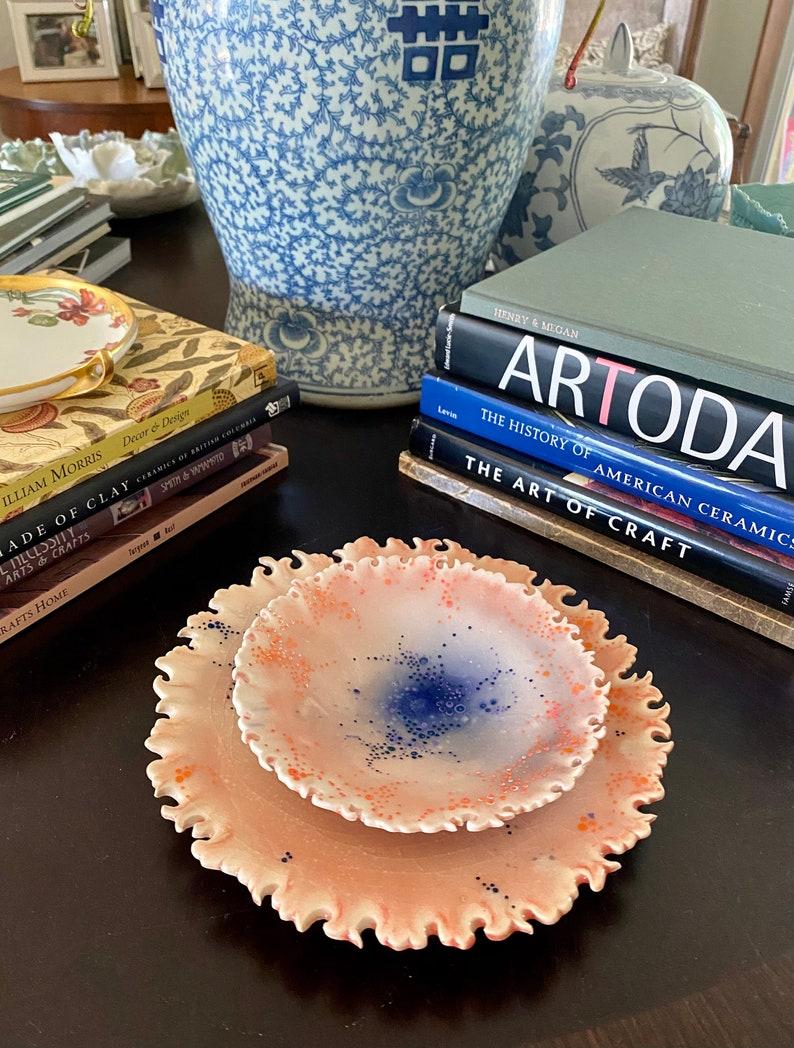 Hand-carved Porcelain Nested Plate Set