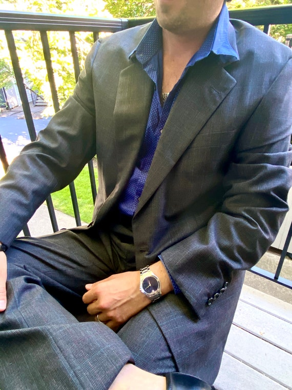 NWT Hickey Freeman 1970s Vintage Men's Wool Suit-