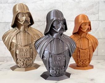 "3D Printed Darth Vader Bust - 4"" Tall"