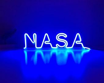 Neon Sign Bedroom, Led neon light, Nasa, Letter Stand, Neon Office Decor, Cool War Decor, Cheap Neon Sign Custom, Led Sign, Desk Lamp.