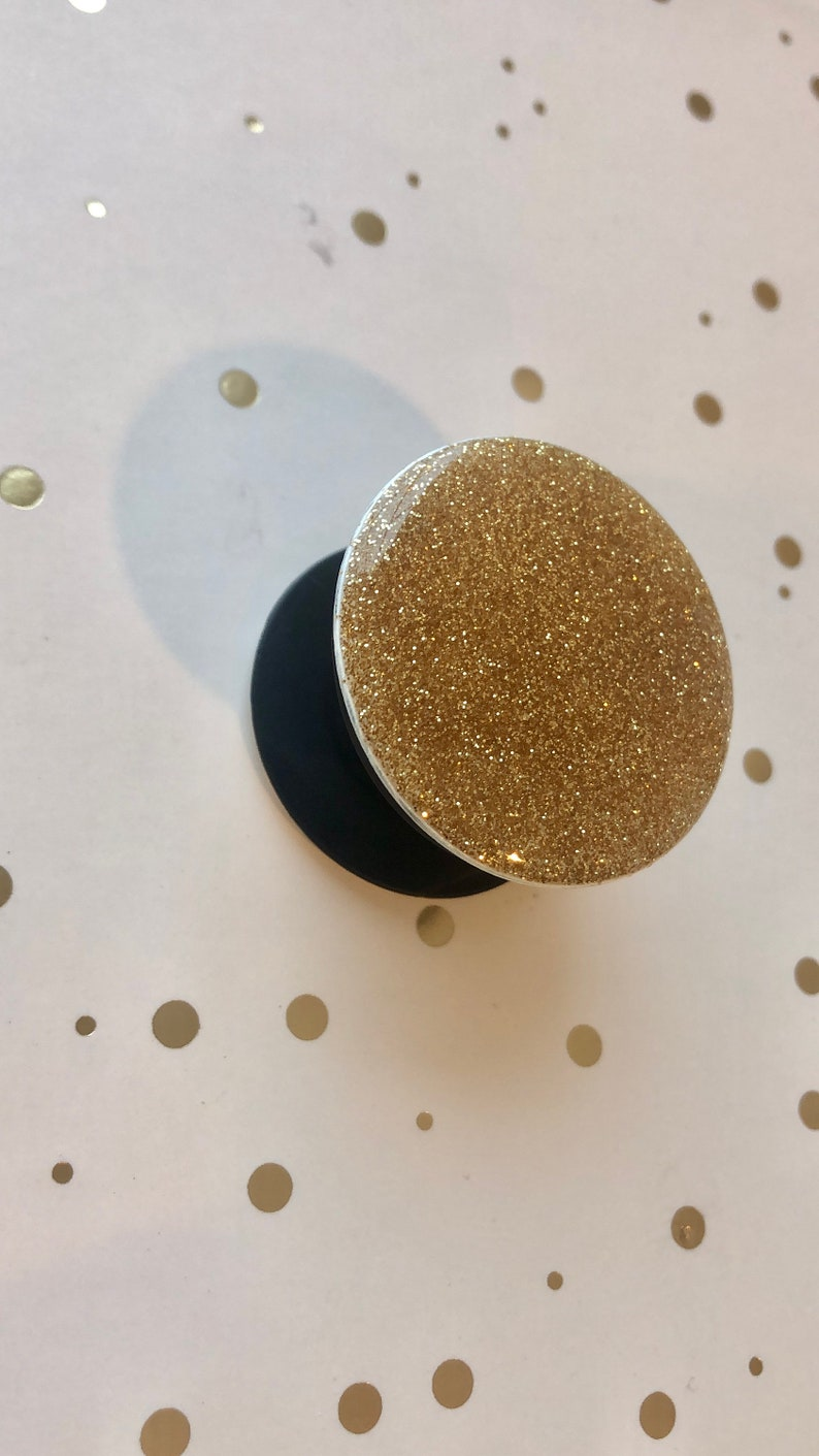Gold Glitter Pop socket