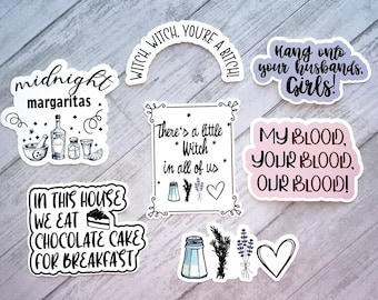 Practical Magic Inspired Sticker Set | There's a little witch in all of us | Midnights Margaritas