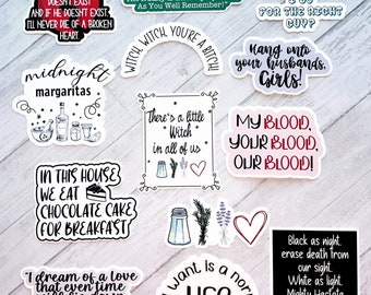 Practical Magic Inspired Sticker Set | Practical Magic Movie Quotes | There's a little witch in all of us | Midnights Margaritas