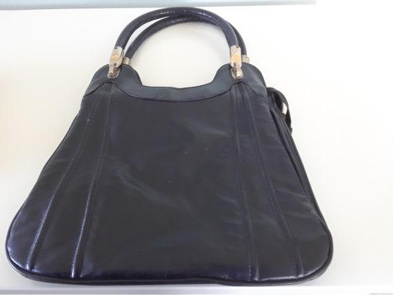 1940s Leather Handbag (Black)
