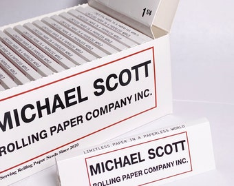 Michael Scott Rolling Paper Company Standard Size 1-1/4 3 Pack Rolling Papers
