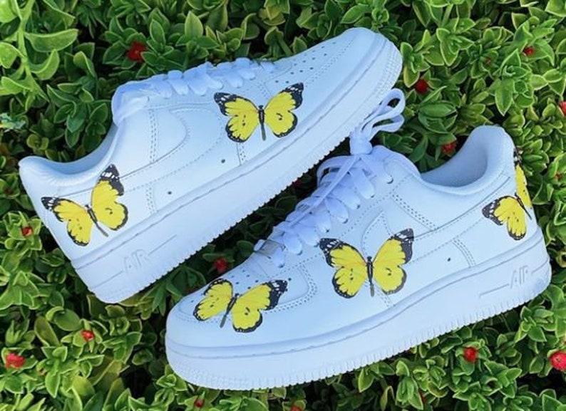 Scarpe personalizzate blu Farfalla AF1 0h2L4Ub4