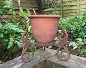 Antique Metal Plant Stand Salvage Plant Stand Garden Salvage Houseplant Pot Stand Plant Pot Stand