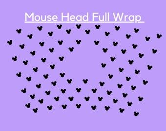 A8 Birthday DISNEYS MINNIE Mouse Ears Leopard Bows Digital Collage Sheet 1 inch Circles 4x6