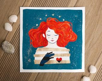 Constellation, original illustration - 21 x 21 cm