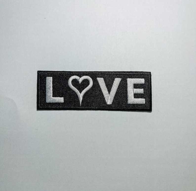 nerd love Your favorite four letter word as a 100/% embroidered iron on sew on patch geek