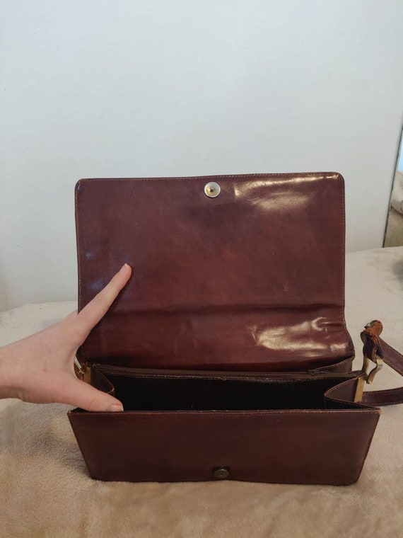 Brown leather Snakeskin Vintage Purse