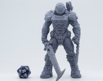 Massive Doom Guy - 127mm - Statue - Collectible - Figurine - Ready to Paint