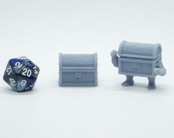 Chest and Mimic Chest - Miniature - DND - Tabletop