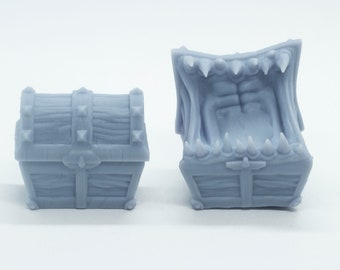 Chest and Mimic Chest - DND - Tabletop - Miniature
