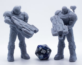 Doom Guy with BFG 70mm Figure - Miniature - Tabletop - Collectable