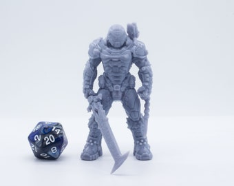 Doom Guy 32mm - 54mm - 70mm Figure - Miniature - Tabletop - Collectable