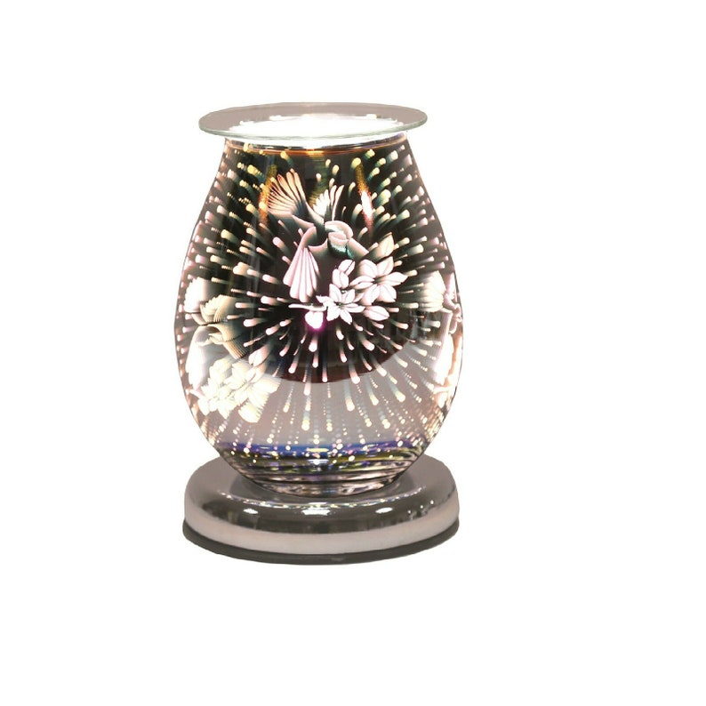 Crystal Mirror Oil Burner Warmer Aroma Fragrance Wax Melt Candle Gift Home