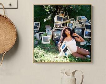 Printed music frame Spotify SZA poster ctrl prints print album love galore good days Travis Scott SZA Supermodel Printed album cover