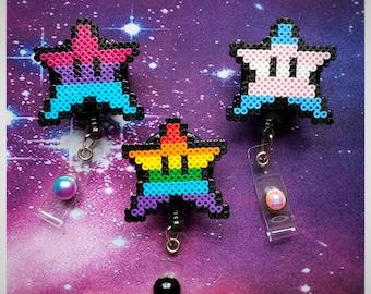Pride Star Badge Reels and Pins