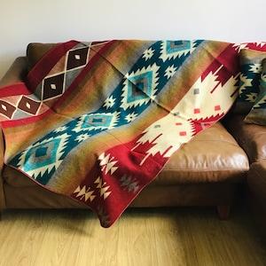 Personalized Light Tartan Wool Blanket Throw Blanket Buffalo Plaid Scottish Ethnic Plaid Handmade Wedding Gift Bedding Housewarming Handmade