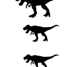 Dinosaur Family Car Etsy