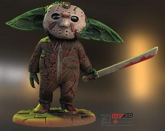 Grogu Horror Mashup, Jason Version!