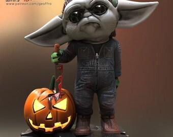 Grogu Horror Mashup, Mike Myers Version!