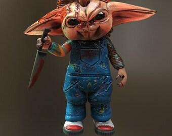 Grogu Horror Mashup, Chucky Version!