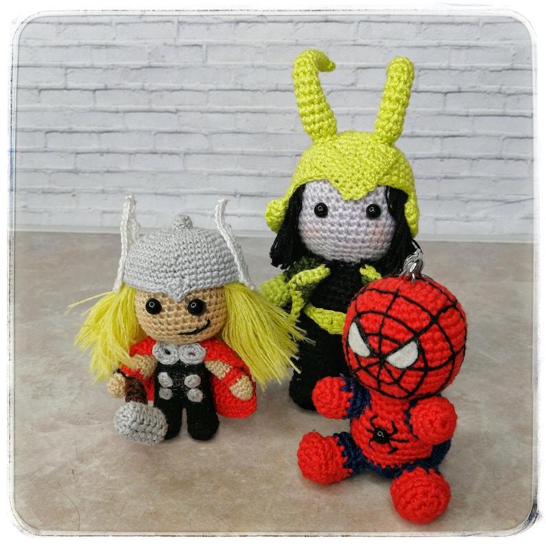 Loki Marvel Avengers Villain loki cosplay crochet toy ...