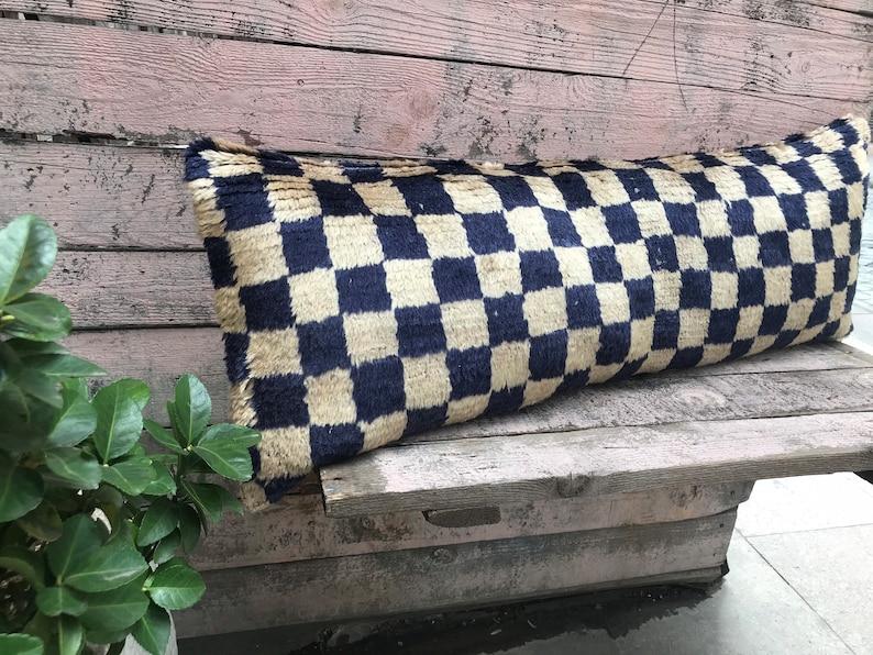 Turkish rug pillowLumbar Rug pillow vintage Turkish cushion cover   lumbar pillow