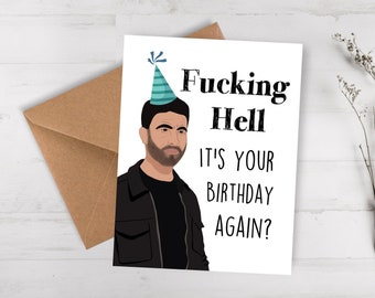 Funny Birthday Card / happy birthday gift for him / card for her / best friend birthday card / funny birthday card for him / 30th birthday