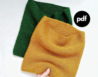 Snood Pattern Pdf, Knitted Snood Pattern, neck warmer pdf, neck warmer pattern, knitted pdf, warm knit snood, gift for christmas