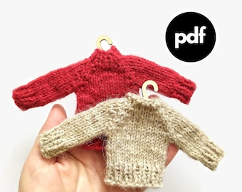 christmas decorations pdf, Christmas pdf patterns, Christmas Tree Decoration 2022, Ornament Mini Sweaters, knit pattern, Christmas Ornament