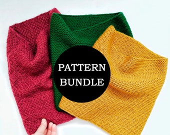 Cowl Knitting Pattern, Knitting pattern, Knit snood, how to knit snood, 2 Pdf Knit Patterns, Scarf PATTERN, Snood Pattern, neck warmer pdf