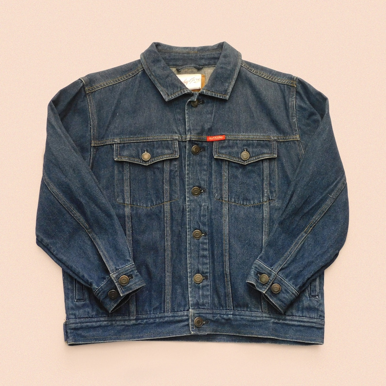 Hand painted denim jacket Size M image 2