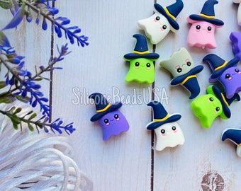 GHOST • Halloween  • silicone beads • 1 piece • food grade silicone • craft • diy • necklace • soft beads • spooky • pumpkin •