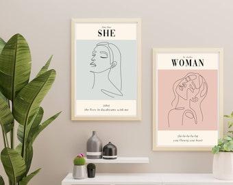 She/Woman Prints Digital Download