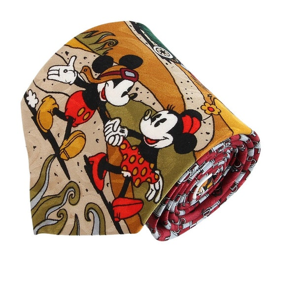 Funny Tie Vintage Mickey Mouse Disney Novelty Tie Cartoon Necktie