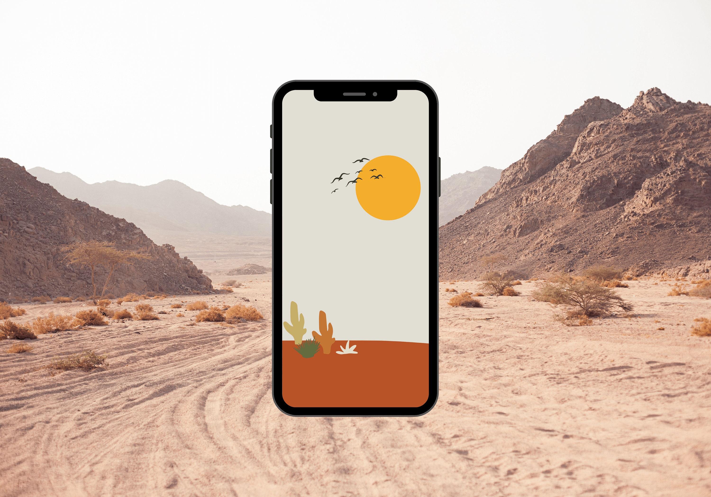 Abstract Iphone Wallpaper Minimalist Phone Wallpaper Boho Etsy