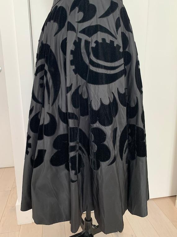 Vintage 50s Ceil Chapman Dress, 1950s Velvet and … - image 6