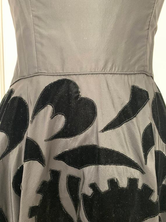 Vintage 50s Ceil Chapman Dress, 1950s Velvet and … - image 5