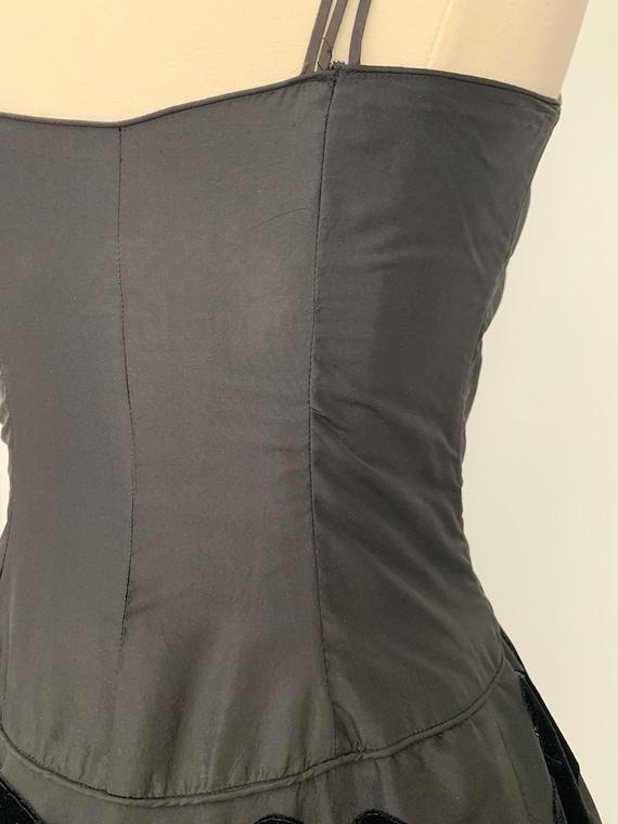 Vintage 50s Ceil Chapman Dress, 1950s Velvet and … - image 4
