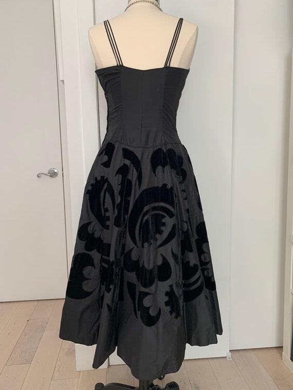 Vintage 50s Ceil Chapman Dress, 1950s Velvet and … - image 2