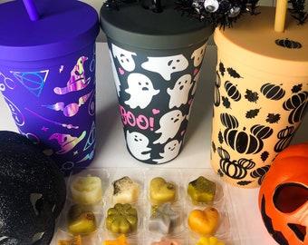 Halloween tumbler and wax melt gift set, starbucks cup, wax melt, autumn tumbler cup, wax tart, halloween gift