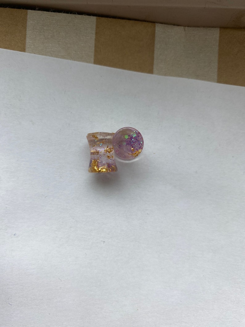 Amethyst and Gold Gauges 8mm 0g