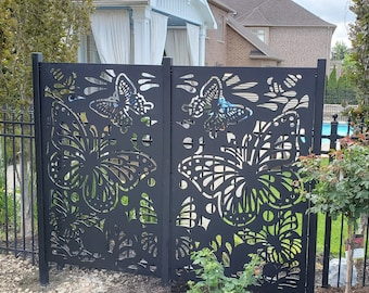 Metal Privacy Screen, Fence, Decorative Panel, Wall Art